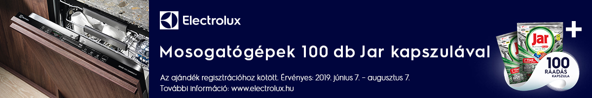 Electrolux mosogatógép JAR június 7- augusztus 7