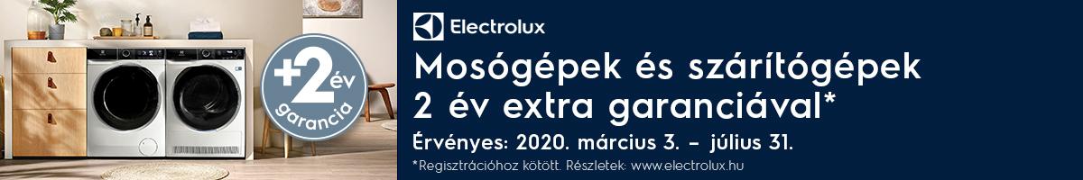 Electrolux Laundry 2 év extra garancia 2020.03.03-2020.05.29